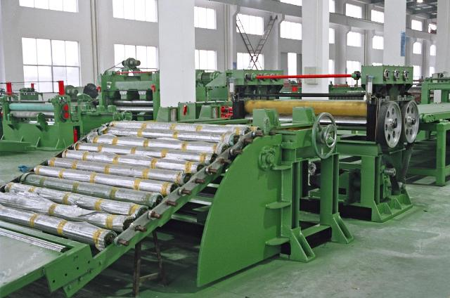 High speed heavy duty steel coil slitting and cutting to length machine line