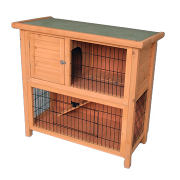 2 Story Wooden Rabbit Hutch House