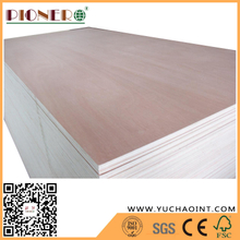 E1 Poplar core bb/cc grade okoume faced commercial plywood