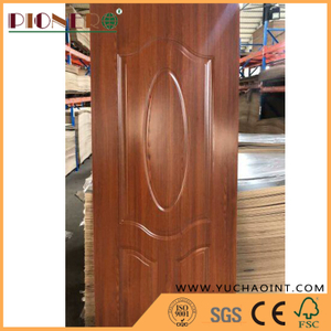 Melamine Paper Wooden Grain HDF Mold Door Skin
