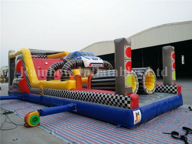 RB5066-1(12x3.7x4m) Inflatable Playground Obstacle Course For Kids/Race Car Infatable Obstacle Course/Outdoor Inflatable Toys
