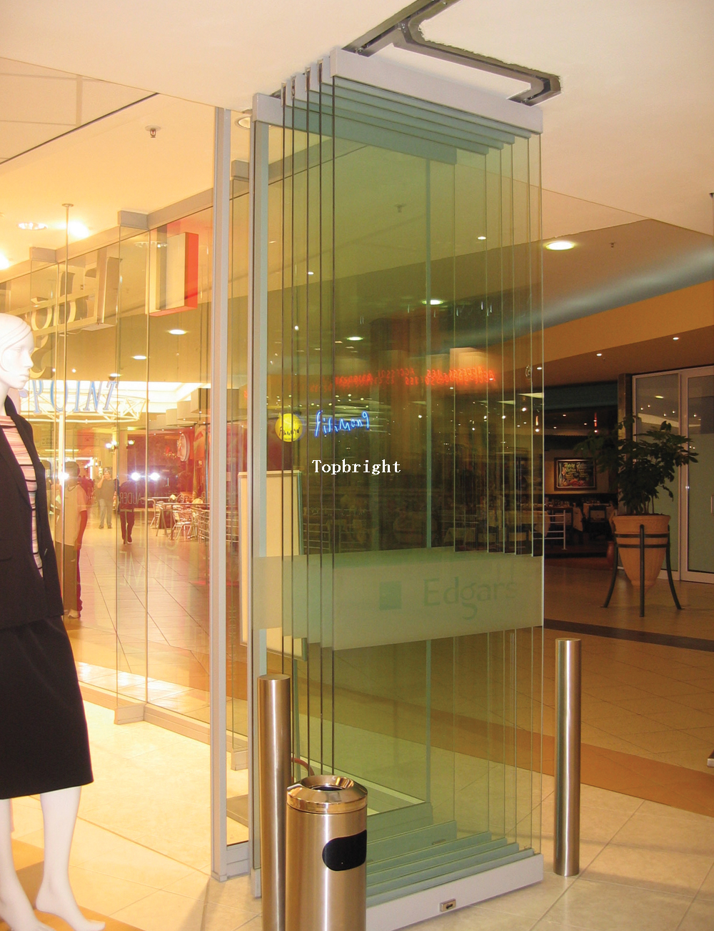 Mall Entrance Doors : Frameless folding doors buy product on guangzhou