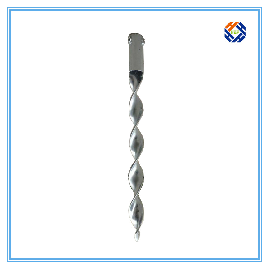 Ground screw pole anchor for solar ground mounting system