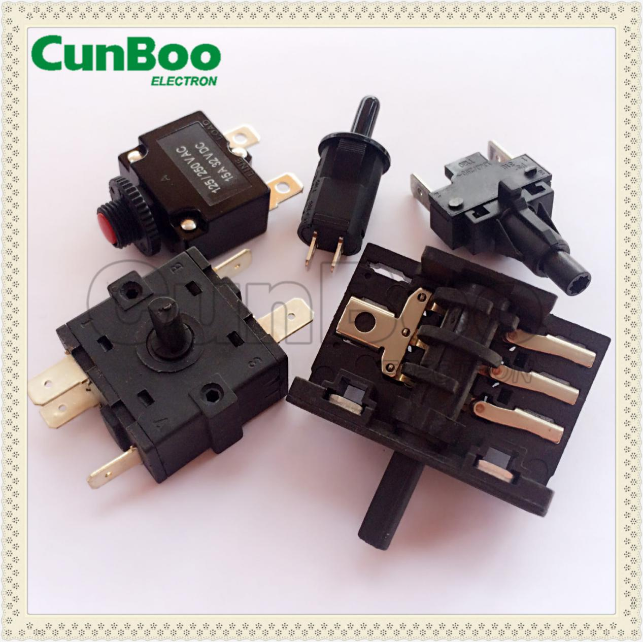 8A 250V AC oven rotary switch