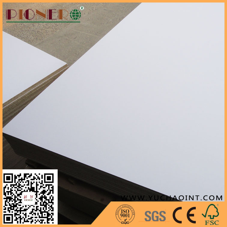 White colour Melamine Laminated Particle Board/chipboard /flakeboard