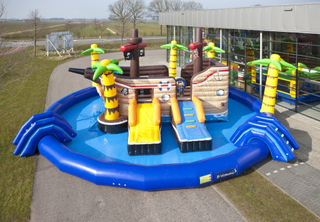 Portable Pirate Ship Inflatable Water Park Inflatable Water Park Equipment