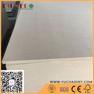 18 mm E1 Plain MDF/ Raw Plain MDF for making furniture