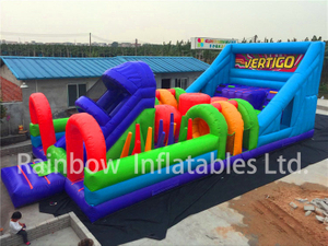 RB5070(12x5m)Inflatable Long Obstacle Course For Children
