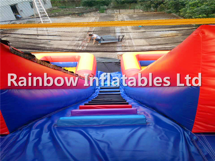 RB6099(8x5x6m) Inflatable Double chute Slide For Sale,Popular Slide For Kids