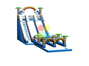 RB06114(15x6x7m)Inflatable giant jungle double slide new design for sale