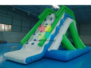 Inflatable sport water game with slide , Inflatable Water Slide game , Inflatable Water Park equipment RB32064