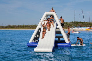 High Class Giant Inflatable Slide Inflatable Floating Water Slide for Seaside
