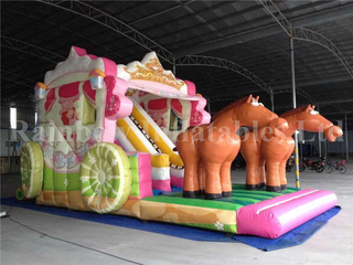 RB8049 (8x6.5x6m) Inflatable The Festoon Vehicle Parade Castle With Slide For Sale