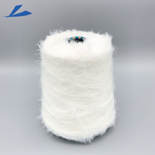 13NM 1.3cm 100% Nylon Mink Like Yarn for Knitting Sweater Mink Yarn Supplier