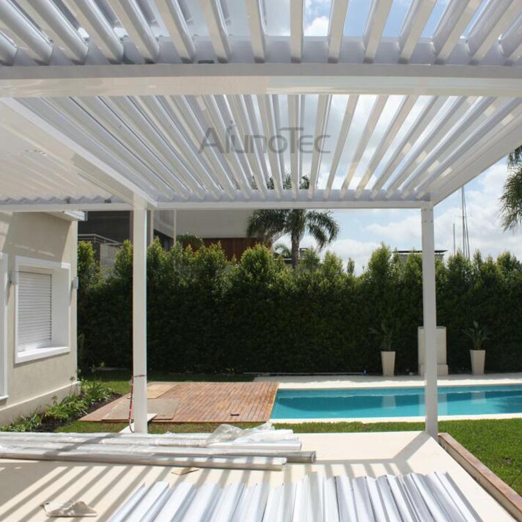 Aluminum Garden Pergola With Retractable Canopy