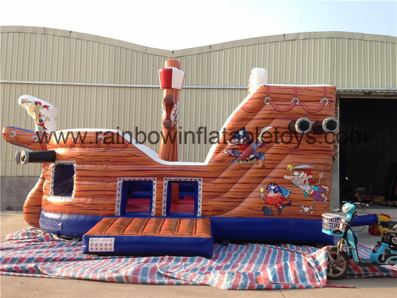 RB11008(6.2x4m)Inflatable Pirate Boat With High Slide For Kids