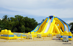 Inflatable Water Slide Giant Beach Slide Hippo Slide