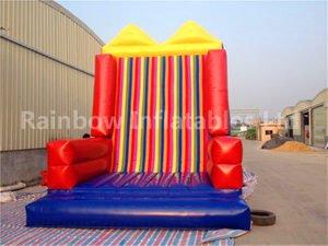 RB13019(7x3.8x4m) Inflatable Climbing Rock Wall With Velcro Wall For Children