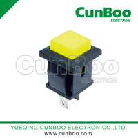PBS-15 momentary push button switch with yellow button
