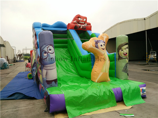 RB6038-3(5.4x3.5x4m) Inflatable Inside Out Theme Customized Commercial Slide For Kids