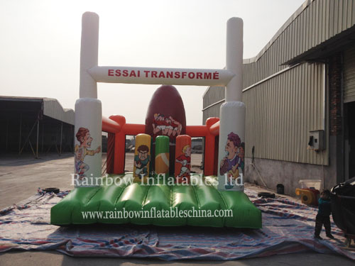 RB5062(14x4m)Inflatable Obstacle Course For Kids/Outdoor Inflatable Playground Toys