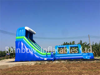 RB6095(15x5x7m) Inflatables Two part Extended blue Bouncy Slide