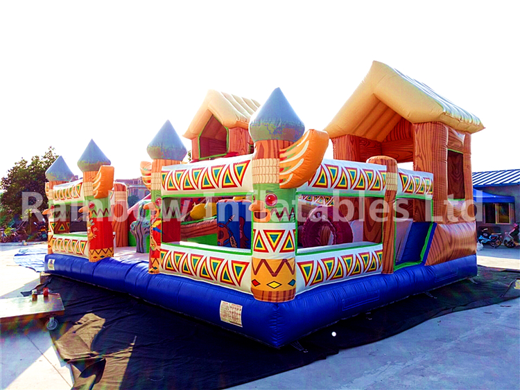 RB4041( 8x6x5m) Inflatables Customized Egypt Funcity/Playground With Slide For Kids