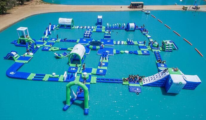 Huge Inflatable Water Park Super Quality Inflatable Floating Water Slide