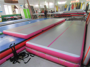Christmas Pink Gymnastics Air Track with Air Blower