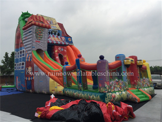 RB6071(13.5x6m) Inflatable Giant Fun Town Slide,Huge Colorful Slide For Commercial Places