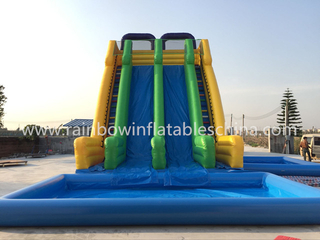 RB6079 (12x6x10m) Inflatable Floating Jumbo Water Slide With Big Pool For Sale