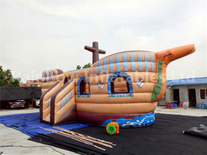 RB1107(7x4.5m)Inflatable Jumping Pirate Ship,Inflatable Bouncer Boat For Cheap Sale
