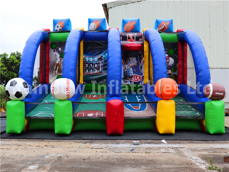 RB9035( 5.5x3m )Inflatable Basketball Football Gate Sports Games