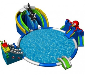 Newest Inflatable Ground Water Park with Swimming Pool for Sale