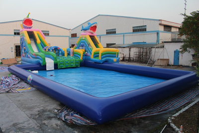 Giant Inflatable Ground Water Park Inflatable Water Play Equipment