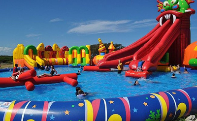 Giant Commercial Inflatable Ground Water Park for Kids and Adult
