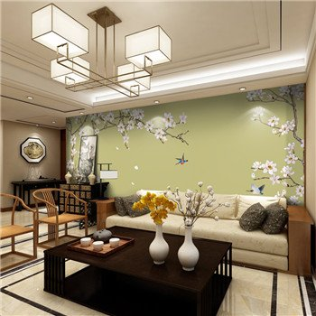 Chinese Embroidery Sofa Backdrop - Buy chinese wall art, background ...