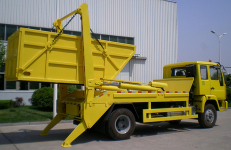 SINOTRUK New Yellow River 4X2 Swing-arm Garbage Truck
