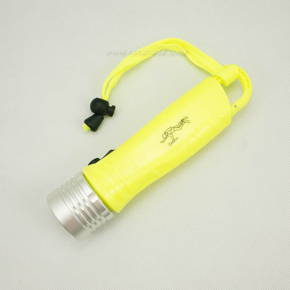 Waterproof LED Flashlight with carabiner for diving