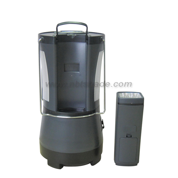 Rechargeable LED Camping Lantern W/2 Detachable Torch