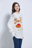 Team club player promotion jacquard unisex knitting Christmas design rudolph reindeer ugly Christmas sweater Xmas sweater