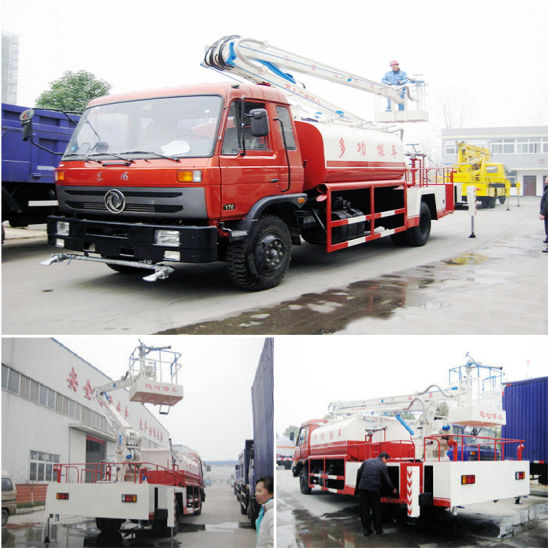 Dongfeng Aerial Platform Working Truck with Water Sprinkler Water Tank Volume 4000 L