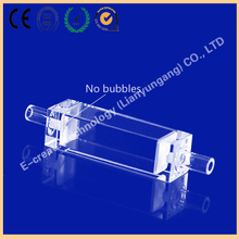 10mm improved quartz flow cuvette with glass tube