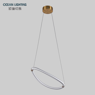Nordic Modern Simple Pendant Lamp Postmodern Ring Indoor lighting 24W Led Chandelier
