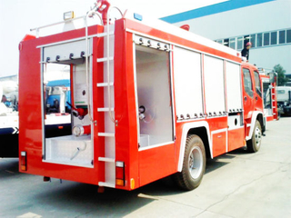 Double Cabin Isuzu 8t Ftr Fire Fighting Truck Factory Slae