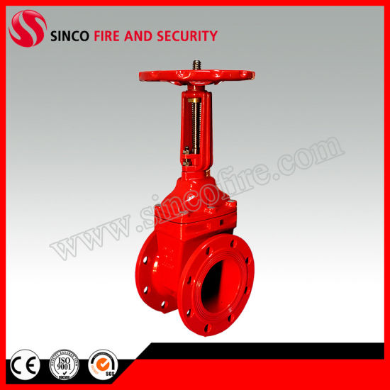 Ductile Cast Iron Flanged Resilient Seat Rising Stem Gate Valve
