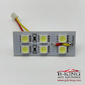 LED White 6SMD Car Interior 5050 LEDS Panel Auto Panel Light