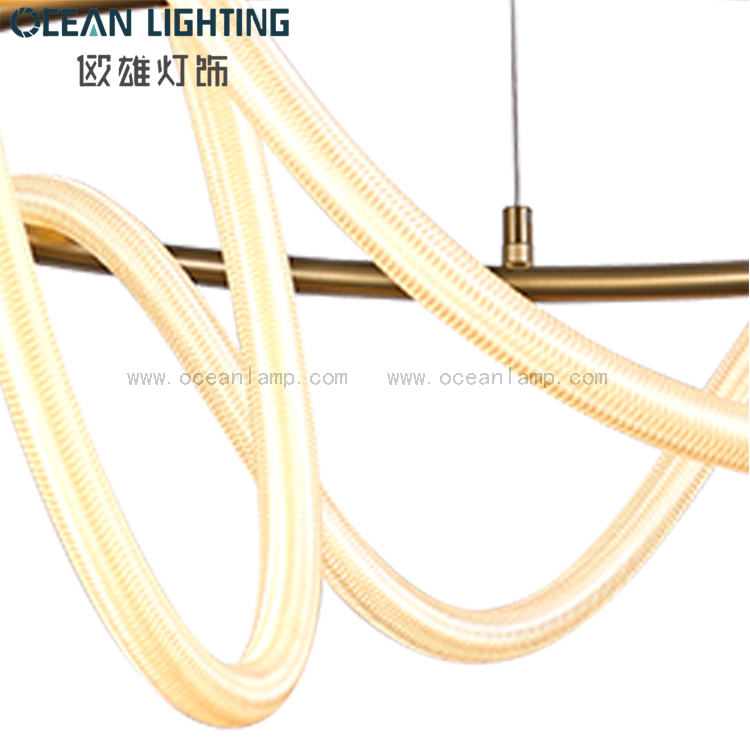 Nordic modern simple light luxury creative living room LED lamp silicone tube lighting Chandelier