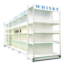 Heavy duty supermarket shelf