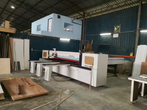 Foshan Mingji woodworking cnc panel saw machine MJ-330A was finished installation in Malaysia